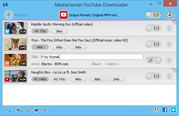MediaHuman YouTube Downloader - Download video YouTube