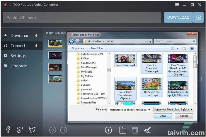 Download video YouTube với ImTOO YouTube Video Converter
